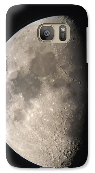 Galaxy Case featuring the photograph Moon Against The Black Sky by John Short