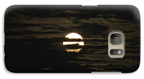Galaxy Case featuring the photograph Moon Behind The Clouds by William Norton