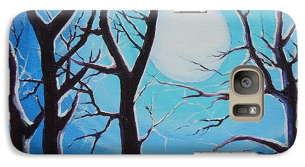 Galaxy Case featuring the painting Moon Light by Dan Whittemore