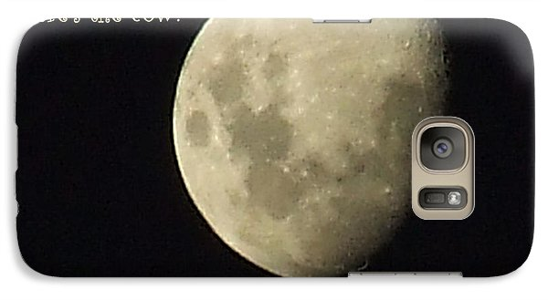Galaxy Case featuring the photograph Moon Missing Cow by Vicki Ferrari