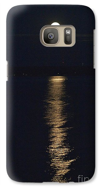Galaxy Case featuring the photograph Moon Over Seneca Lake by William Norton
