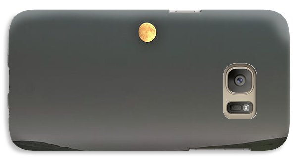 Galaxy Case featuring the photograph Moon Over The Palouse by Albert Seger