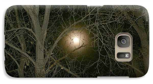 Galaxy Case featuring the photograph Moon Through The Trees by Laurel Talabere