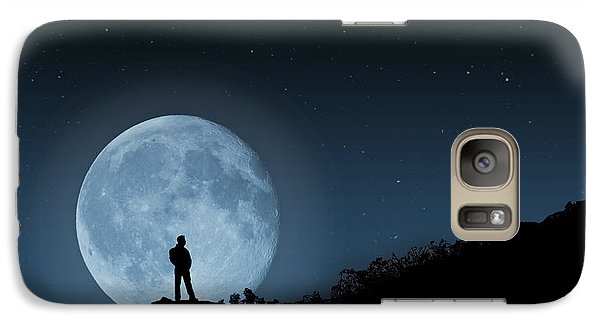Galaxy Case featuring the photograph Moonlit Solitude by Steve Purnell