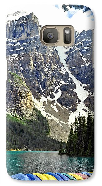 Galaxy Case featuring the photograph Moraine Lake by Lisa Phillips