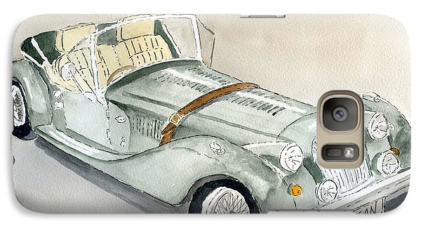 Galaxy Case featuring the painting Morgan Sports Car by Eva Ason