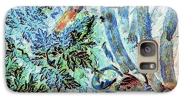 Galaxy Case featuring the photograph Morning Frost On Engelmann Daisies And Mesquite Beans by Louis Nugent