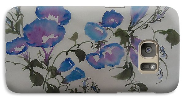 Galaxy Case featuring the painting Morning Glory--2011 by Dongling Sun