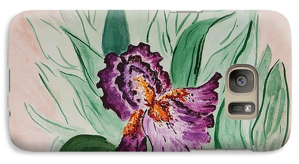 Galaxy Case featuring the painting Morning Iris by Cynthia Morgan