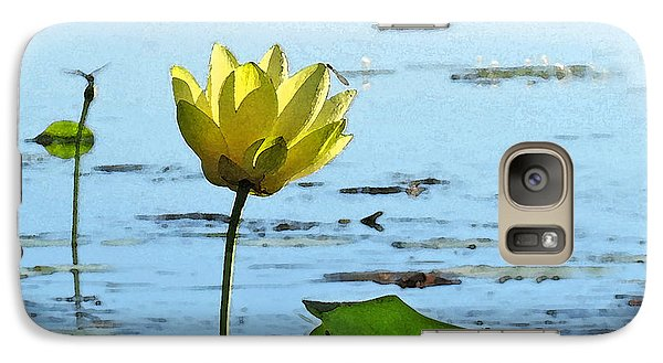 Galaxy Case featuring the photograph Morning Lotus Pond by Deborah Smith