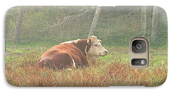 Galaxy Case featuring the photograph Morning Moo by Wendy McKennon