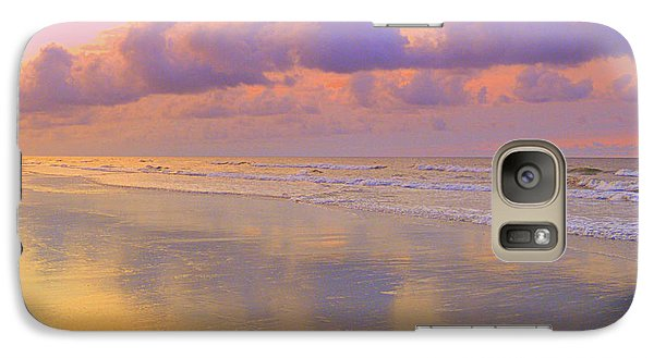 Galaxy Case featuring the photograph Morning On The Beach  by Lydia Holly