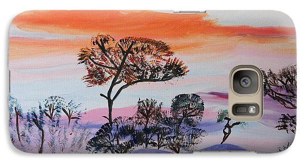 Galaxy Case featuring the painting Morning Skies  by Meryl Goudey