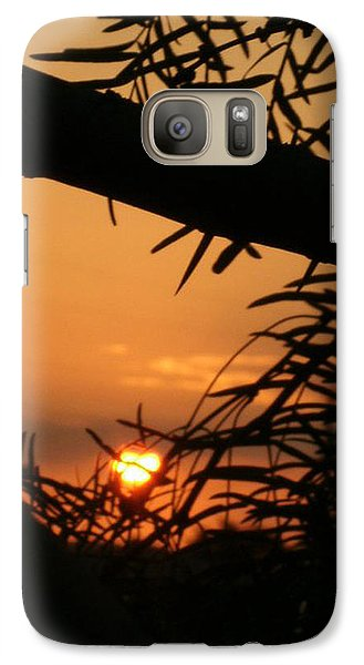 Galaxy Case featuring the photograph Morning Sun And Mesquite by Louis Nugent
