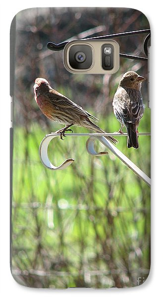 Galaxy Case featuring the photograph Morning Visitors by Rory Sagner