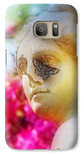 Galaxy Case featuring the photograph Moth On Statue by Judi Bagwell