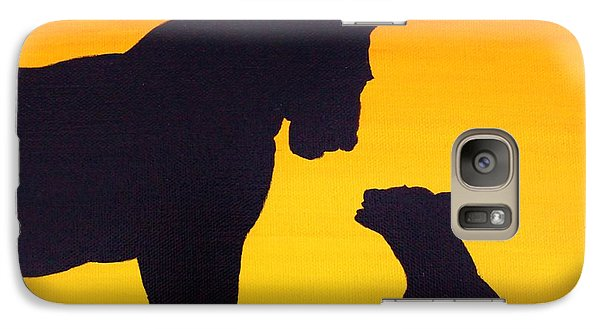 Galaxy Case featuring the painting Mother Africa 3 by Michael Cross