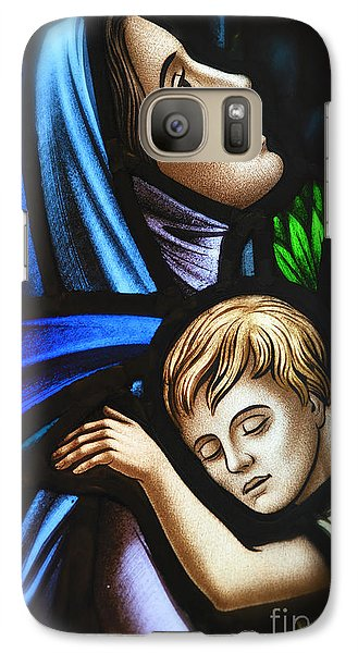 Galaxy Case featuring the photograph Mother And Child Stained Glass by Verena Matthew