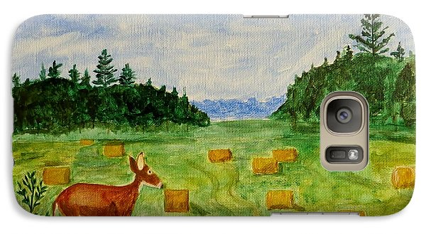 Galaxy Case featuring the painting Mother Deer And Kids by Sonali Gangane