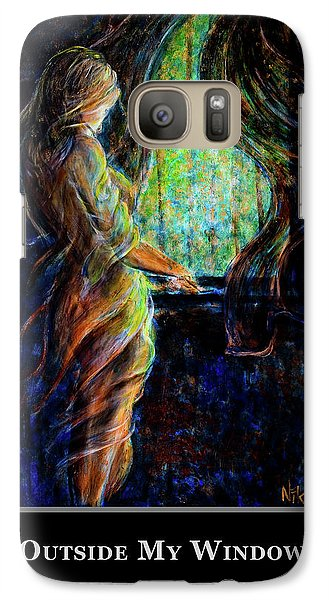 Galaxy Case featuring the painting Motivational - Explore by Nik Helbig
