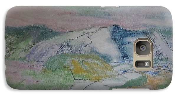 Galaxy Case featuring the painting Mount Desert Back Side by Francine Frank