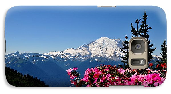 Galaxy Case featuring the photograph Mount Rainier Seen From Crystal Mountain Summit  2 by Tanya  Searcy