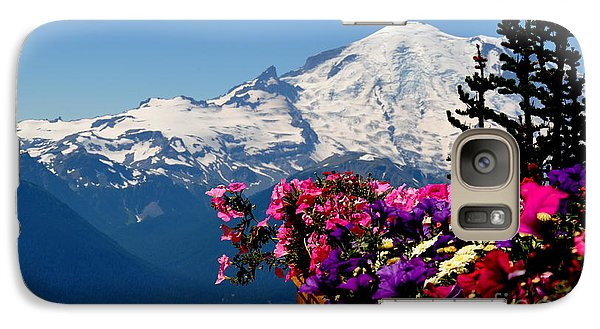 Galaxy Case featuring the photograph Mount Rainier Seen From Crystal Mountain Summit  3 by Tanya  Searcy