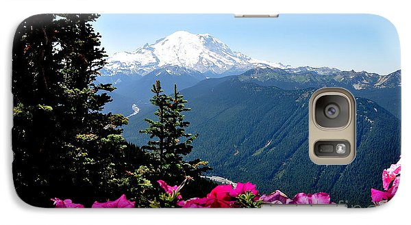 Galaxy Case featuring the photograph Mount Rainier Seen From Crystal Mountain Summit  5 by Tanya  Searcy
