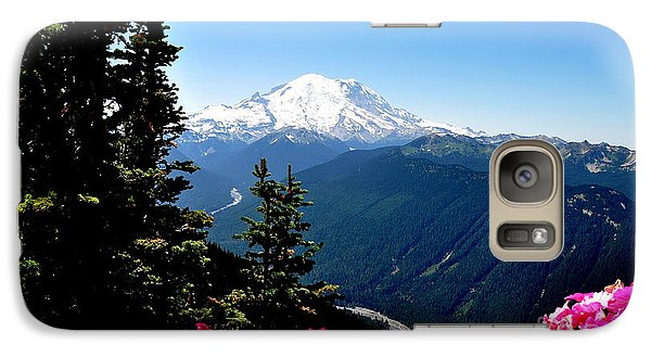 Galaxy Case featuring the photograph Mount Rainier Seen From Crystal Mountain Summit  6 by Tanya  Searcy