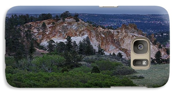 Galaxy Case featuring the photograph Mount Saint Francis And The Super Moon by Andrew Serff