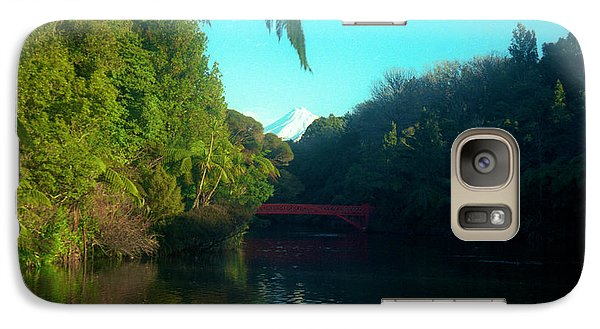 Galaxy Case featuring the photograph Mount Taranaki Aka Mt Egmont New Zealand by Mark Dodd