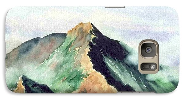 Galaxy Case featuring the painting Mountain  1 by Yoshiko Mishina