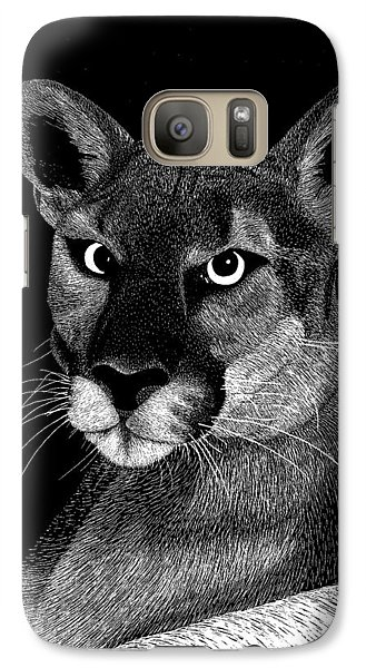 Galaxy Case featuring the mixed media Mountain Lion by Kume Bryant