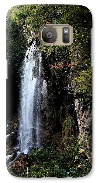 Galaxy Case featuring the painting Mountain Waterfall by Karen Harrison