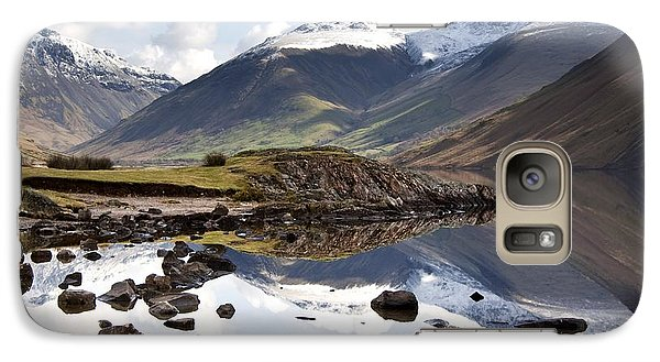 Galaxy Case featuring the photograph Mountains And Lake At Lake District by John Short