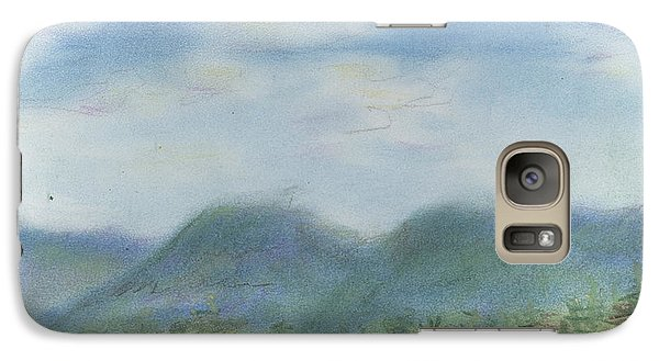 Galaxy Case featuring the pastel Mountains Over Lennox by Denny Morreale
