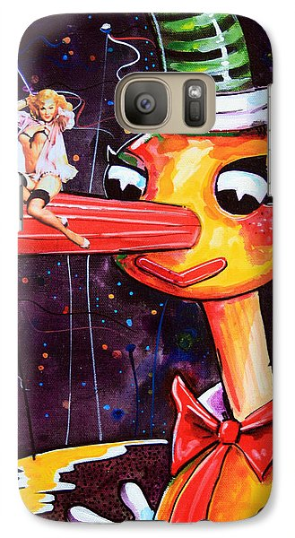 Galaxy Case featuring the painting Mr Squiggles New Friend by Leanne Wilkes