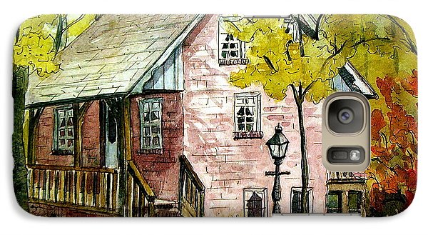 Galaxy Case featuring the painting Mrs. Henry's Home 2 by Gretchen Allen