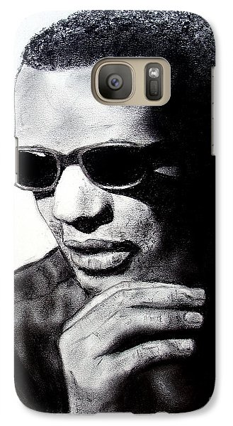Galaxy Case featuring the painting Music Legend Ray Charles by Jim Fitzpatrick