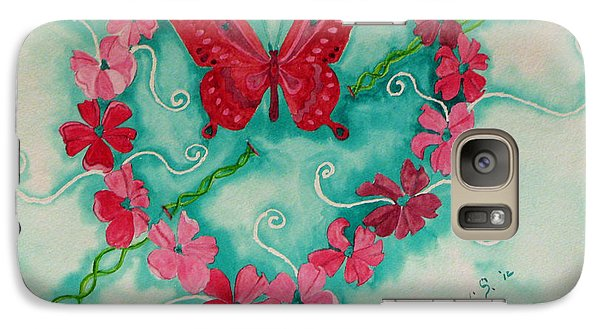 Galaxy Case featuring the painting My Heart Has Been Pierced By Love by Debi Singer