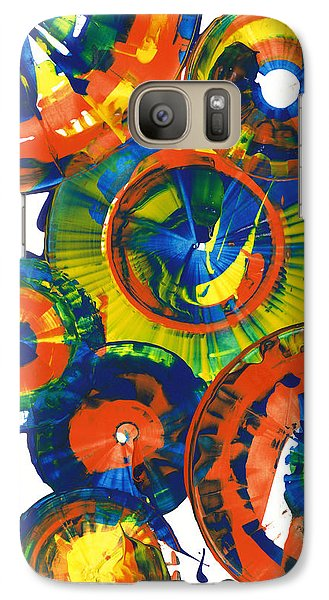 Galaxy Case featuring the painting My Magical Spheres    859.121811 by Kris Haas