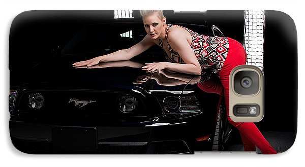 Galaxy Case featuring the photograph My Mustang by Jim Boardman