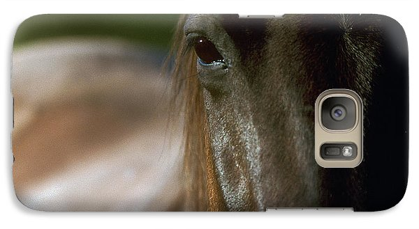Galaxy Case featuring the photograph My Neigh-bor's Horse by Doug Herr