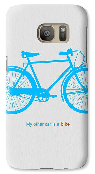 Bicycle Galaxy S7 Case - My Other Car Is A Bike  by Naxart Studio