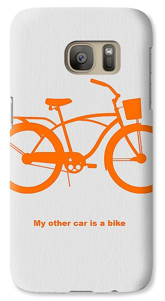 Bicycle Galaxy S7 Case - My Other Car Is Bike by Naxart Studio