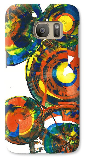 Galaxy Case featuring the painting My Spheres Show Happiness  864.121811 by Kris Haas