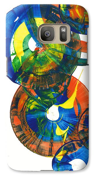 Galaxy Case featuring the painting My Spherical Joy '' Jump Up ''  858.121711 by Kris Haas