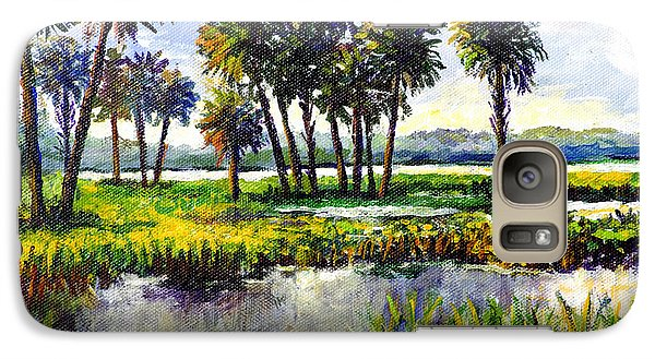 Galaxy Case featuring the painting Myakka Lake by Lou Ann Bagnall
