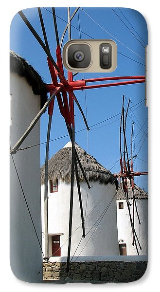 Galaxy Case featuring the photograph Mykonos Windmills by Carla Parris