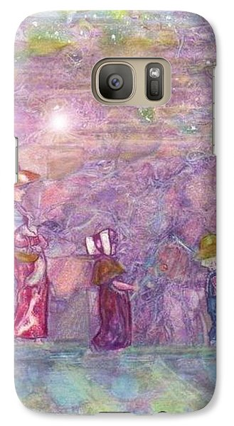 Galaxy Case featuring the mixed media Mystical Stroll by Ray Tapajna